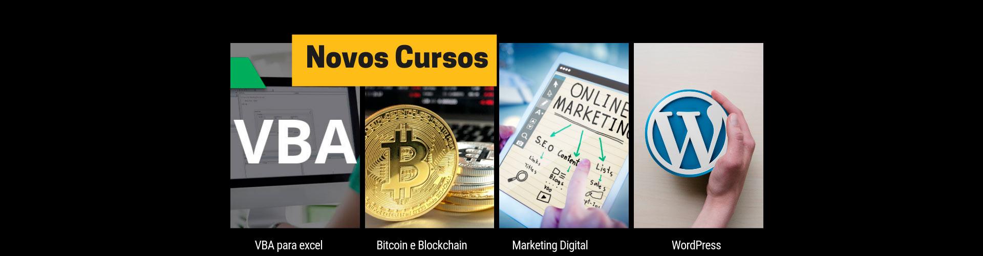 Novos cursos na Tema Informática: VBA para Excel, BitCoin, Marketing Digital e Wordpress